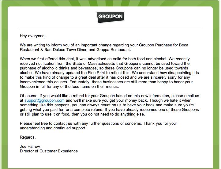 Groupon E-Mail