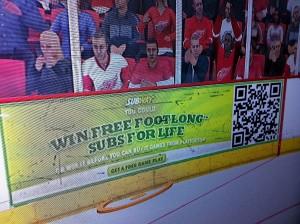 Subway NHL 11 QR Code